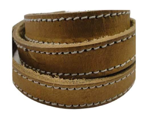 Buy Cordón de Cuero Cordón de Cuero Plano Cuero Cosido y Tachonado  Cuero Doble Costura  at wholesale prices