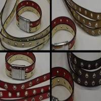 Buy Bead String material and Faux Cords Eco Flat Leather (Fancy Style) Rings - 10mm  at wholesale prices
