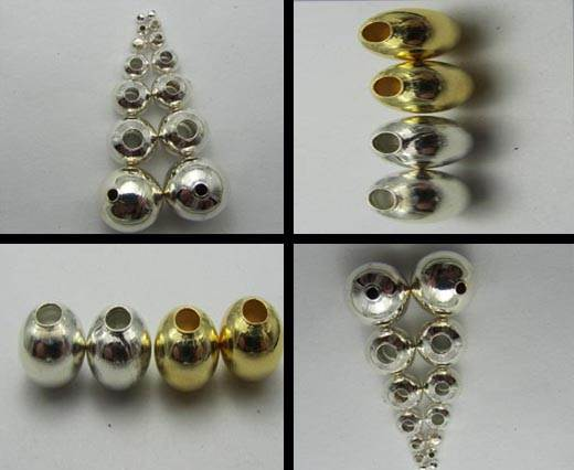 Buy Beads Silver Plated Metal Beads  Simple Beads  at wholesale prices