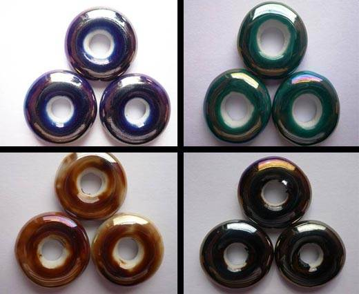 Buy Beads Ceramic Beads Small Donuts  at wholesale prices