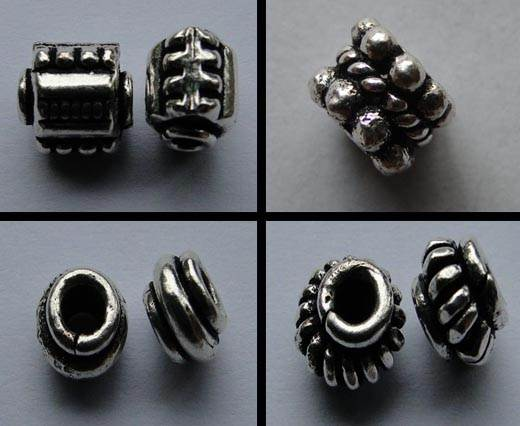 Buy Beads Silver Plated Metal Beads  Spacer Beads  at wholesale prices