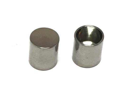 Buy Stainless Steel Parts Stainless Steel Parts for Round Leather - Steel Colour Stainless Steel End Caps for round leather - Size 6mm, 7mm  at wholesale prices