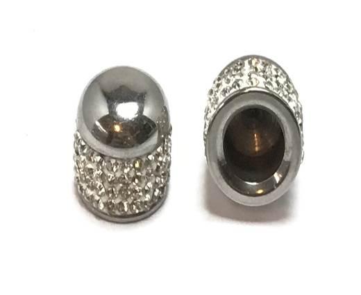 Buy Articles en acier inoxydable  Apprêts en acier inoxydable Apprêts finition metal en acier inoxydable Embouts pour cuir rond - 8mm à 14mm en acier inoxydable  at wholesale prices