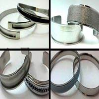 Buy Stainless Steel Cuffs - Bangles and Rings Steel Cuffs in Steel   at wholesale prices