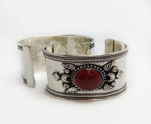 Buy Componenti per gioielli in Zamak e Rame Braccialetti di metallo in ottone e rame Stone Brass Cuff  at wholesale prices