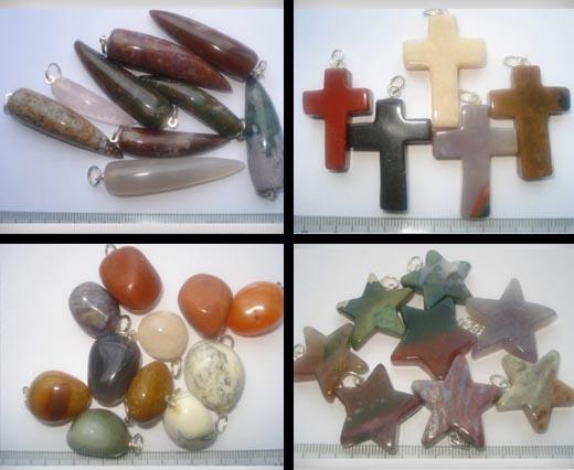 Buy Semi Precious Stones & 925 Sterling Silver Stone Pendants  at wholesale prices