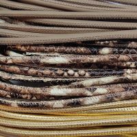 Buy Leather Cord Round Stitched Nappa Leather 4mm  at wholesale prices