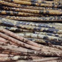 Buy Lederbänder Rund gesäumt Schlangenmuster - 6mm  at wholesale prices