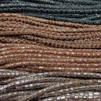 Buy Lederbänder Rund gesäumt Schlangenmuster - 3mm  at wholesale prices