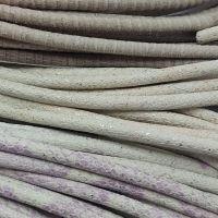 Buy Lederbänder Rund gesäumt Schlangenmuster Kariert - 6mm  at wholesale prices