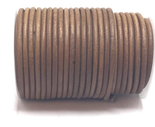 Buy Leather Cord Round Leather 6mm Plain  at wholesale prices