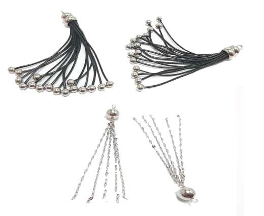 Buy Beads Silver Plated Metal Beads  Tassels  at wholesale prices