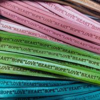 Buy Leather Cord Text Embossed Leather  Text - Hope Heart Love  at wholesale prices
