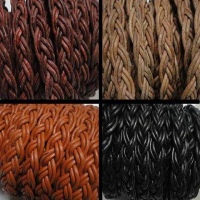 Buy Leather Cord Braided Flat Twist Style  at wholesale prices