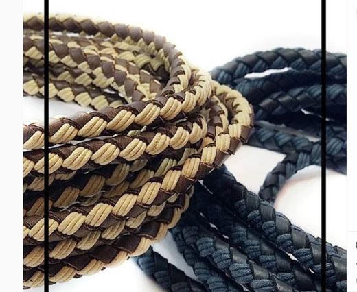 Buy Lederbänder Geflochtenes Leder Lederband geflochten mit Baumwolle  at wholesale prices