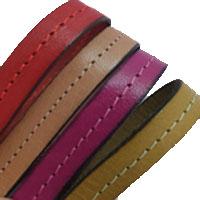 Buy Lederbänder Lederbänder flach Italienische Lederbänder Mit Nähten - 10mm  at wholesale prices