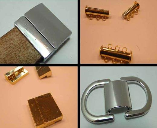 Buy Zamak / Brass Magnetic Clasps Flat Leather - 20mm   at wholesale prices