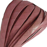 Buy Lederbänder Lederbänder flach Italienische Lederbänder Zackenstil - 10mm  at wholesale prices