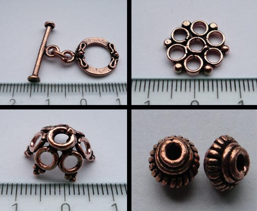Buy Beads Antique Copper Plated Metal Beads   at wholesale prices