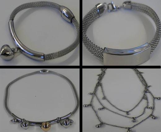 Edelstahl -- Fertige Armbänder und Halsketten