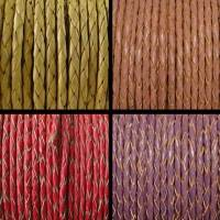 Buy Leather Cord Braided Round 3mm Plain at wholesale prices