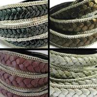 Braided Leather with Chains