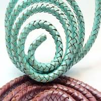 Buy Leather Cord Braided Leather Cord Oval  at wholesale prices