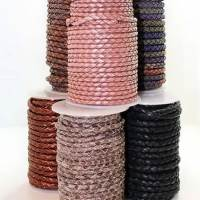 Buy Leather Cord Braided Leather Cord Round  at wholesale prices