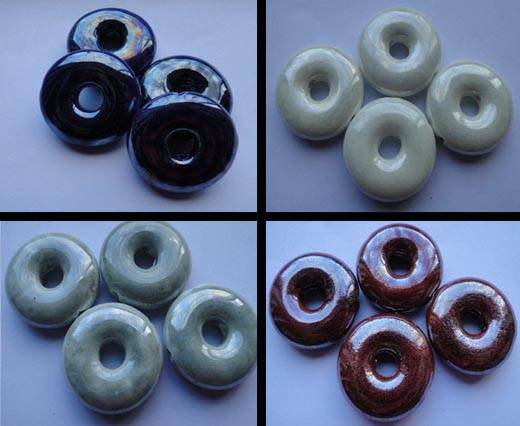 Buy Beads Ceramic Beads Donuts - 27mm  at wholesale prices