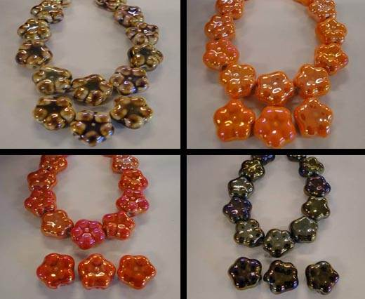 Buy Beads Ceramic Beads Flower  at wholesale prices