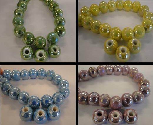 Buy Beads Ceramic Beads Round - 10mm  at wholesale prices