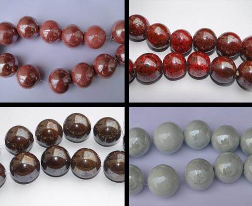Buy Beads Ceramic Beads Round - 21mm  at wholesale prices