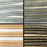 Buy Cordoncino in eco pelle Natri di pelle con catena - 10mm   at wholesale prices