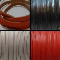 Buy Leather Cord Flat Leather  Cow Leather with thickness 1.1-1.3mm 3mm  at wholesale prices