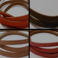 Flat Leather Cords - Cow -width 5mm