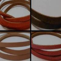 Buy Leather Cord Flat Leather  Cow Leather with thickness 1.1-1.3mm 5mm  at wholesale prices