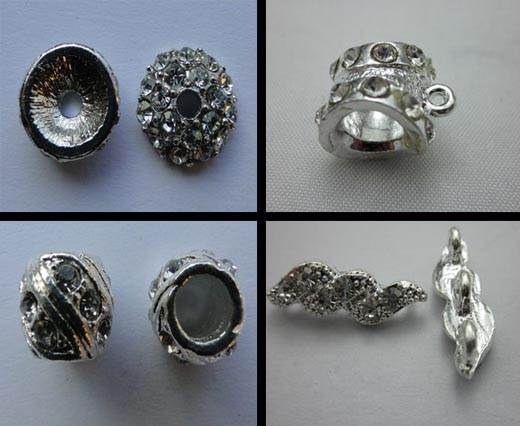 Buy Beads Silver Plated Metal Beads  Crystals  at wholesale prices