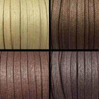 Buy Bead String material and Faux Cords Waxed Cotton Cord Flat - 5mm  at wholesale prices
