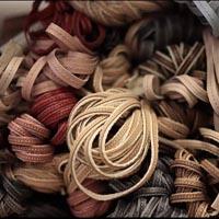 Buy Cordón de cuero Cordon de cuero plano Cuero italiano Cordón de cuero con tejido  at wholesale prices