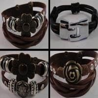 Buy Cordons en Cuir Bracelet en cuir Fini Collections de bijoux Bracelets en cuir - Sans acier  at wholesale prices