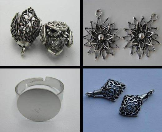Buy Beads Silver Plated Metal Beads  Fine Beads  at wholesale prices