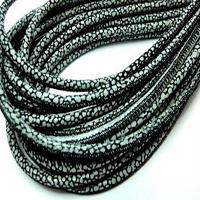 Buy Lederbänder Rund gesäumt Echsenmuster - 4mm  at wholesale prices