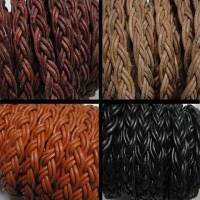 Buy Leather Cord Leather Cords Braided Bolo Flat Twist Style  at wholesale prices