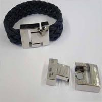 Buy Chiusure per Gioielli Chiusure Magnetiche Chiusure Magnetiche per cordini in pelle Zamak Flat Clasps   at wholesale prices