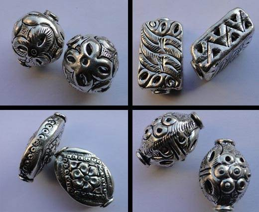 Buy Beads Silver Plated Metal Beads  Fine Beads Hand Crafted Large Beads  at wholesale prices