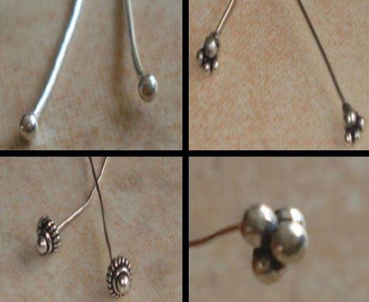 Buy Beads Silver Plated Metal Beads  Headpins  at wholesale prices