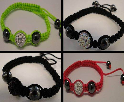 Buy Beads Crystal Beads in different Styles Shamballa - Finished Bracelets  at wholesale prices