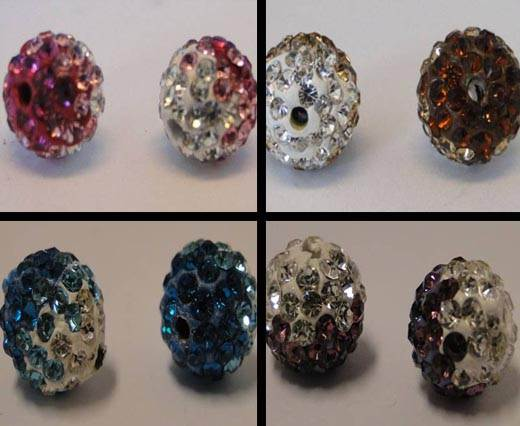 Buy Cuentas Shamballa bolas en diferentes estilos Shamballa Tri-color  at wholesale prices