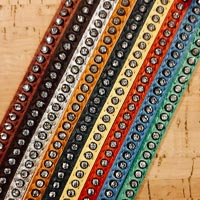 Buy Leather Cord Nappa Leather Nappa Leather with Swarovski Crystals  at wholesale prices