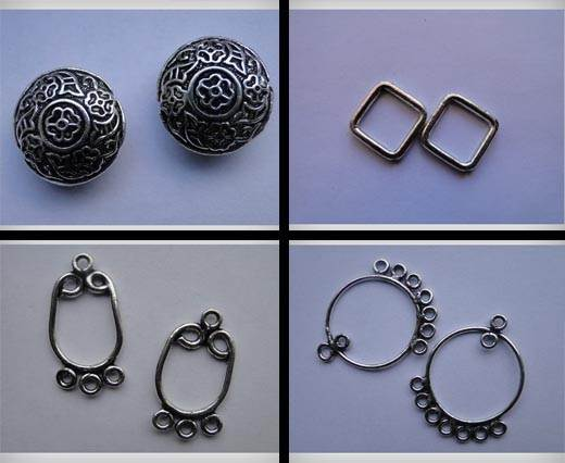 Buy Beads Silver Plated Metal Beads  Antique Large Sized Beads  at wholesale prices